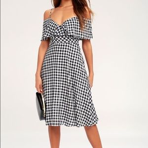 Lulus black and white gingham dress